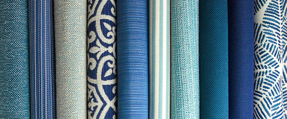 New Outdura Blue Outdoor Fabrics