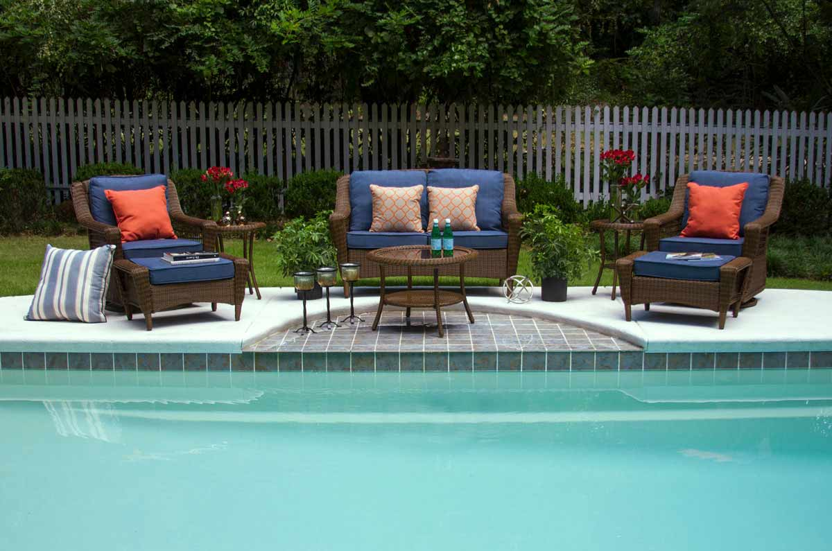 Navy Outdoor Cushions